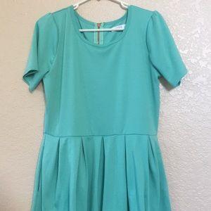 LuLaRoe Amelia Teal Dress